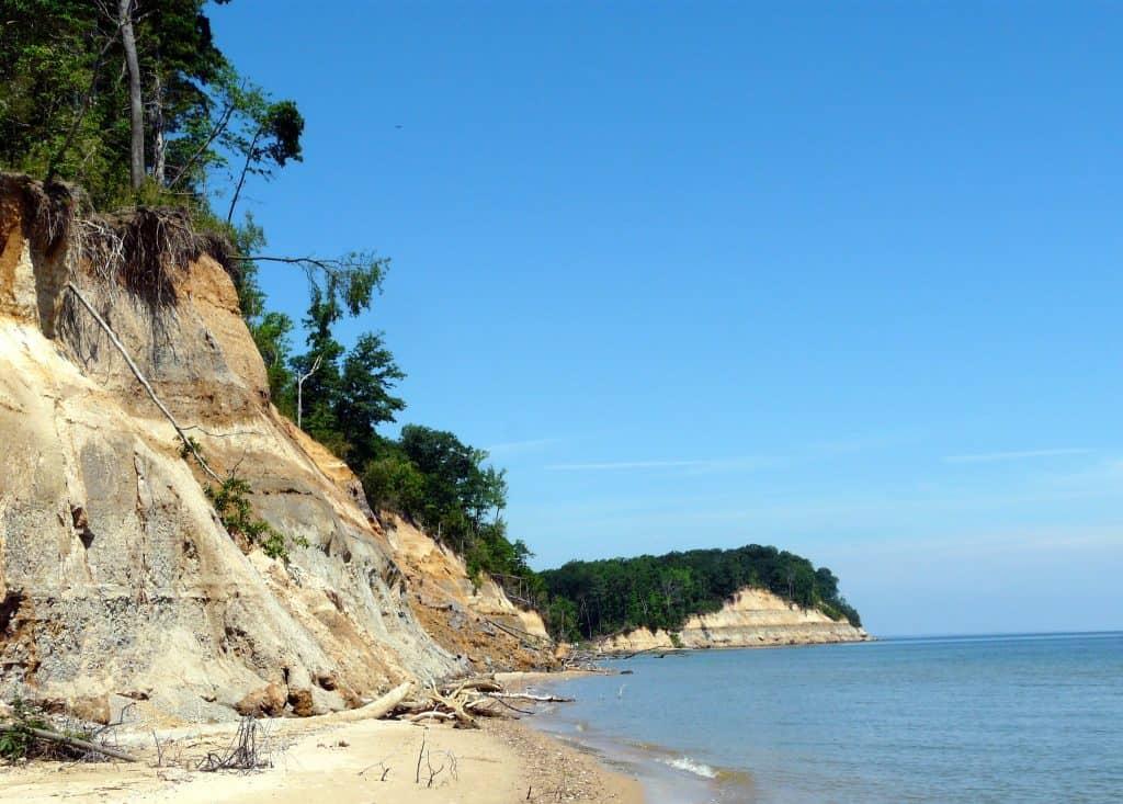 Calvert Cliffs State Park Cliffs And Chesapeake Bay