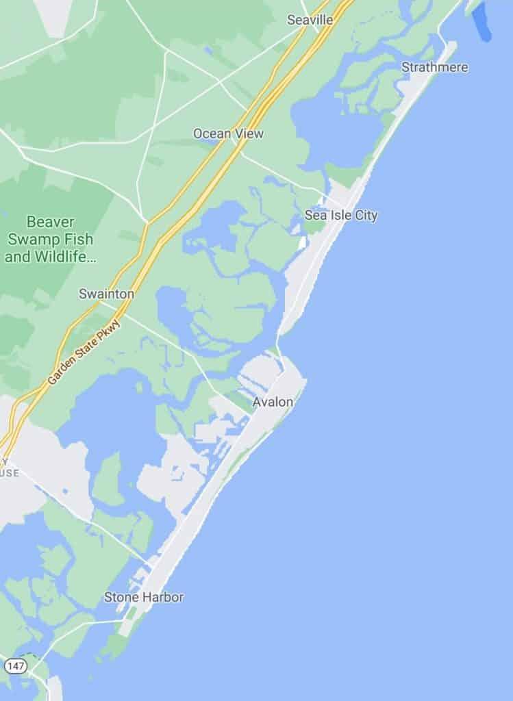 Seven Mile Island Ludlam Island Map
