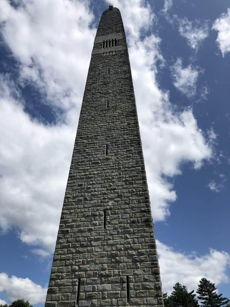 bennington battle monument from the base, bennington vt