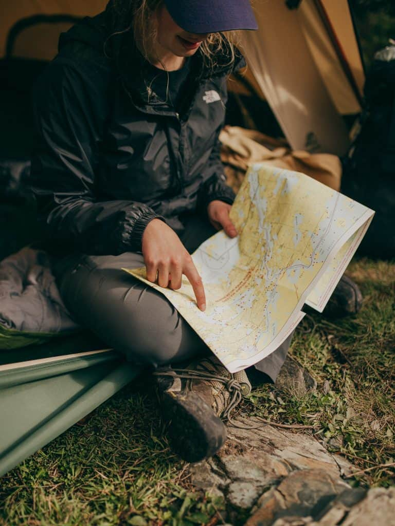 long distance walk reading map